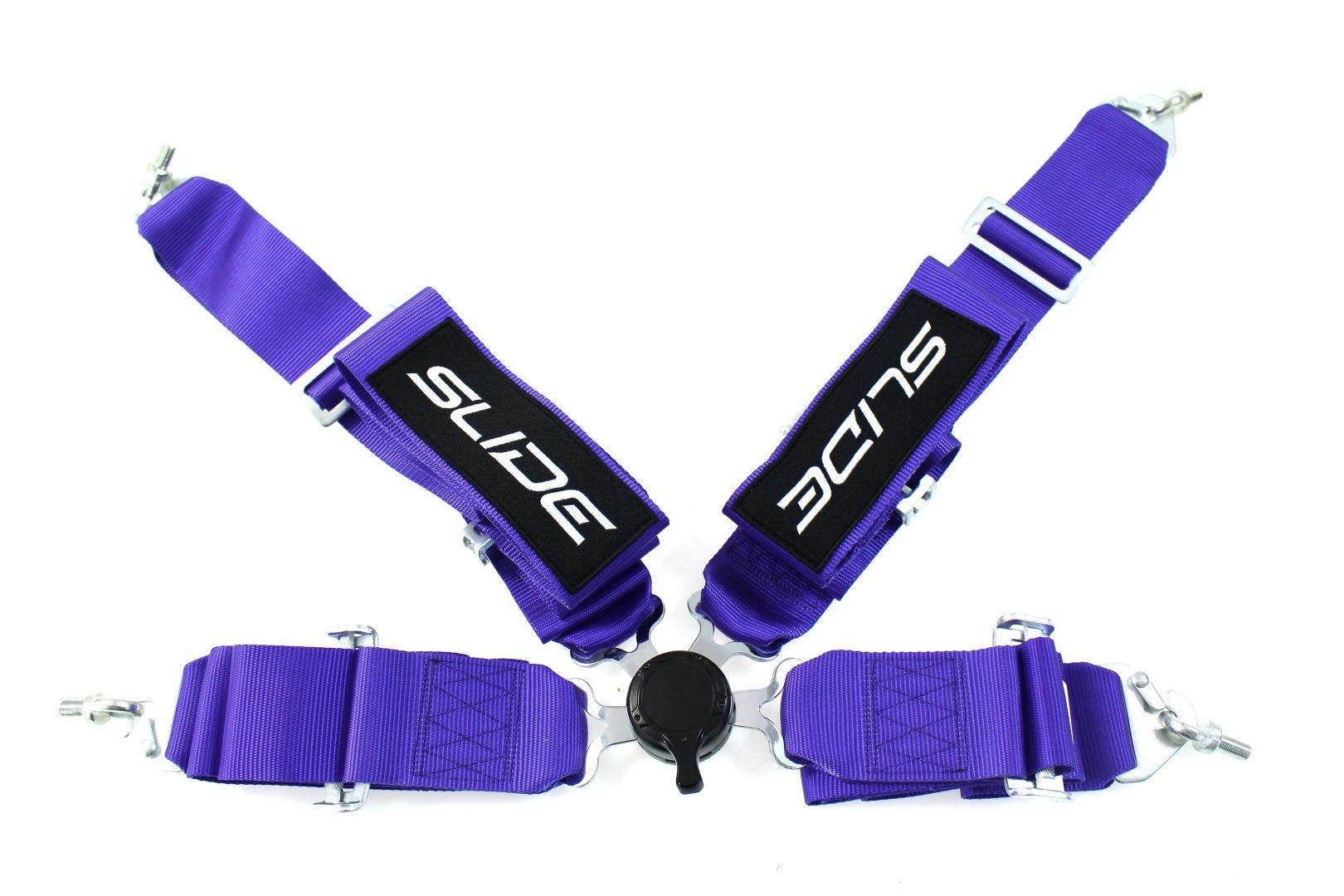 "Pasy sportowe SLIDE Quick 4p 3"" Purple - GRUBYGARAGE - Sklep Tuningowy"